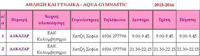 Aqua Gymnastic
